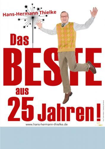 """Plakat: Hans-Hermann Thielke, """"Das Beste aus 25 Jahren"""""""