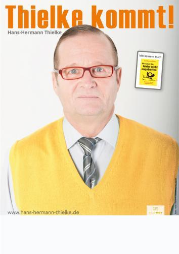 """Plakat: Hans-Hermann Thielke, """"Thielke kommt"""""""